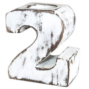 Gifts > Gifts For Her > Wooden Birthday Number Candle Holder - No. 2