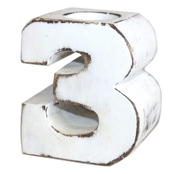 Gifts > Gifts For Her > Wooden Birthday Number Candle Holder - No. 3