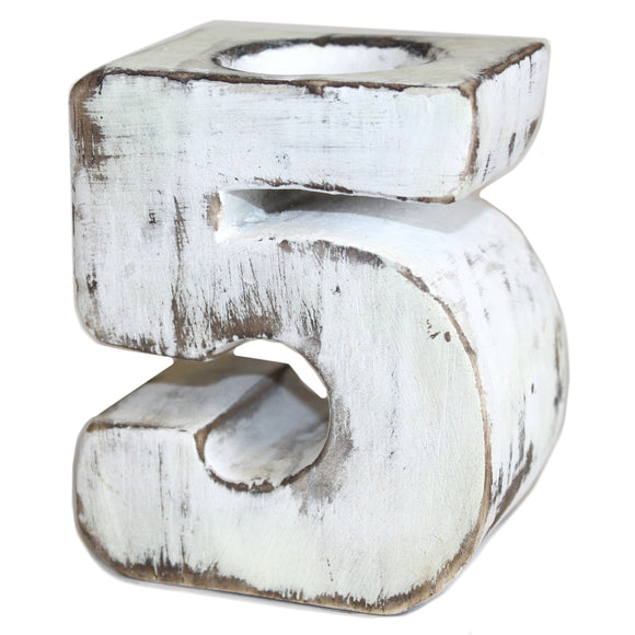 Gifts > Gifts For Her > Wooden Birthday Number Candle Holder - No. 5