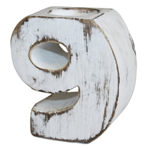 Gifts > Gifts For Her > Wooden Birthday Number Candle Holder - No. 9