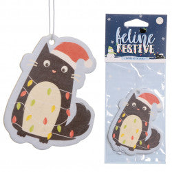 Occasions > Christmas > Christmas > 6x Festive Feline Lights Cat Nutmeg Air Freshener