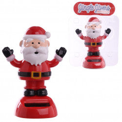 Occasions > Christmas > Christmas > 1x Jingle Jivers Christmas Cute Santa Claus Solar Pal