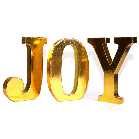 Home > Home Décor > Signs & Plaques > Shabby Chic Letters Gold - JOY