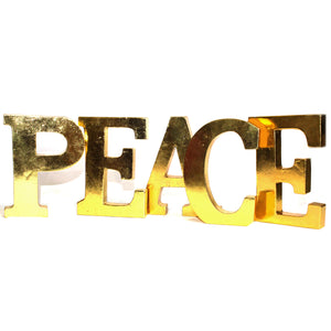Home > Home Décor > Signs & Plaques > Shabby Chic Letters Gold - PEACE