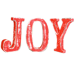 Home > Home Décor > Signs & Plaques > Shabby Chic Letters Red Wash - JOY