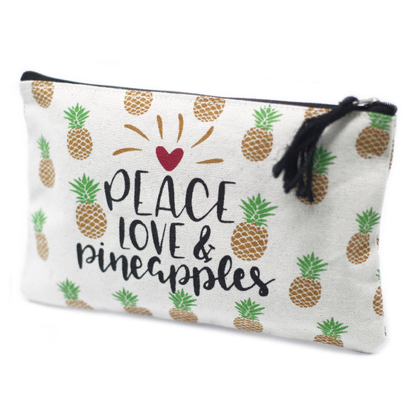 Fashion Accessories > Bags & Backpacks > Pouches > Classic Zip Pouch - Pineapples