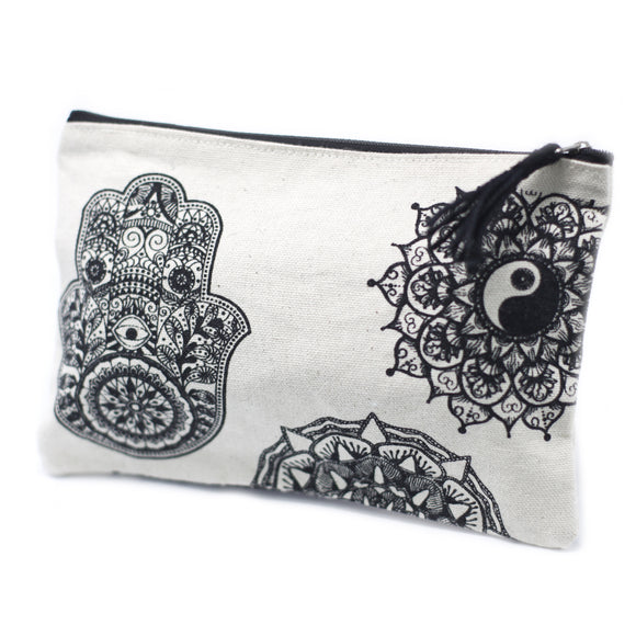 Fashion Accessories > Bags & Backpacks > Pouches > Classic Zip Pouch - Mandala