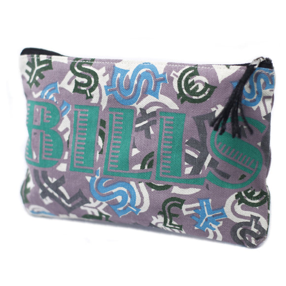 Fashion Accessories > Bags & Backpacks > Pouches > Classic Zip Pouch - Bills