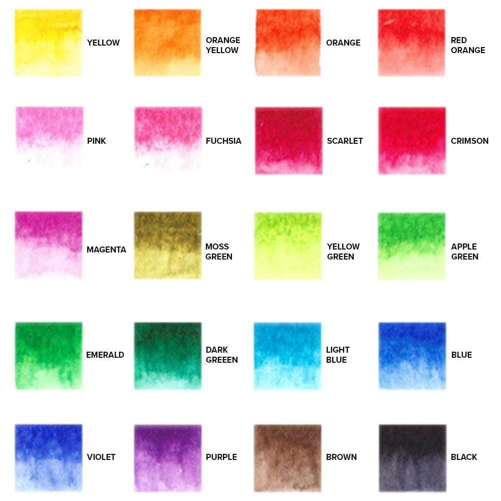 GenCrafts Watercolor Brush Pens Swatch