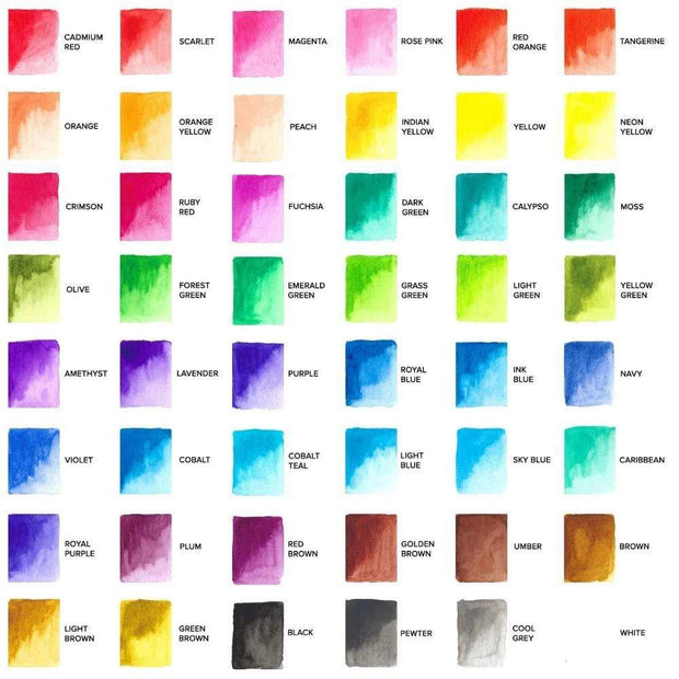 GenCrafts Watercolor Palette Swatch