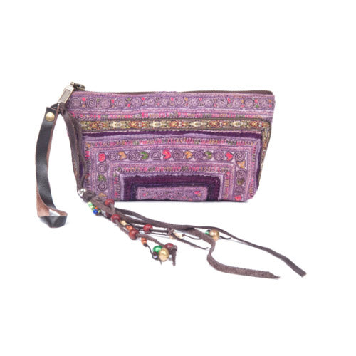 Panada Charm Clutch Purple