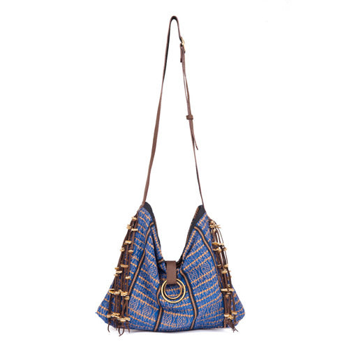 Nina Tassel Messenger Indigo - Pre Order for May delivery
