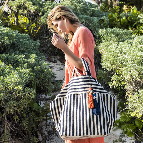 Valerie Beach Bag Tassel Black