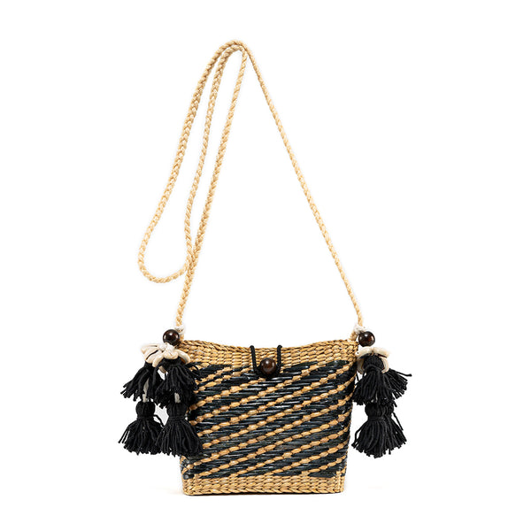 Maxime Mini Tassel Basket Black