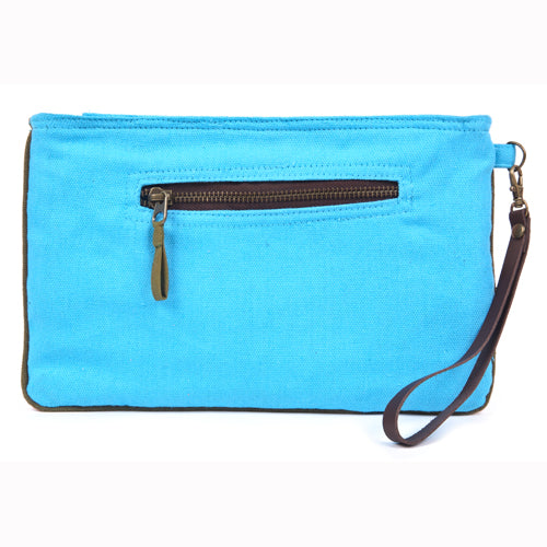 Eliz Canvas Clutch