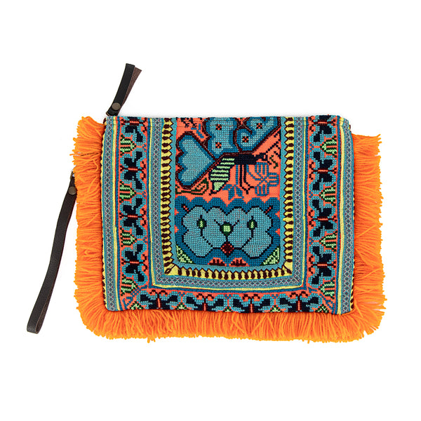 Eliz Canvas Fringe Orange