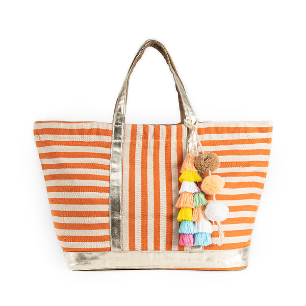 Valerie St. Jean Tote Coral Pastel Tassel - Pre Order for May 15th - 30th