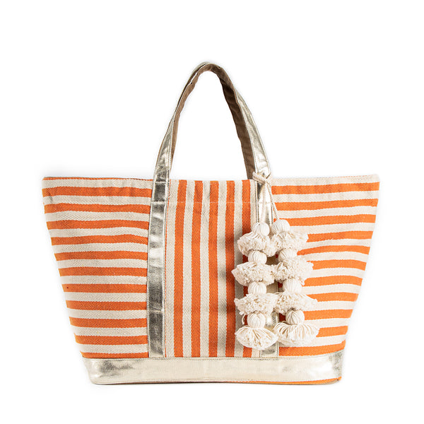 Valerie St. Jean Tote Coral Organic Tassel - Pre Order for May 15th - 30th