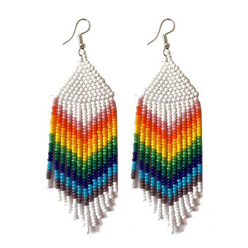 Tribal Earring Medium White Multi