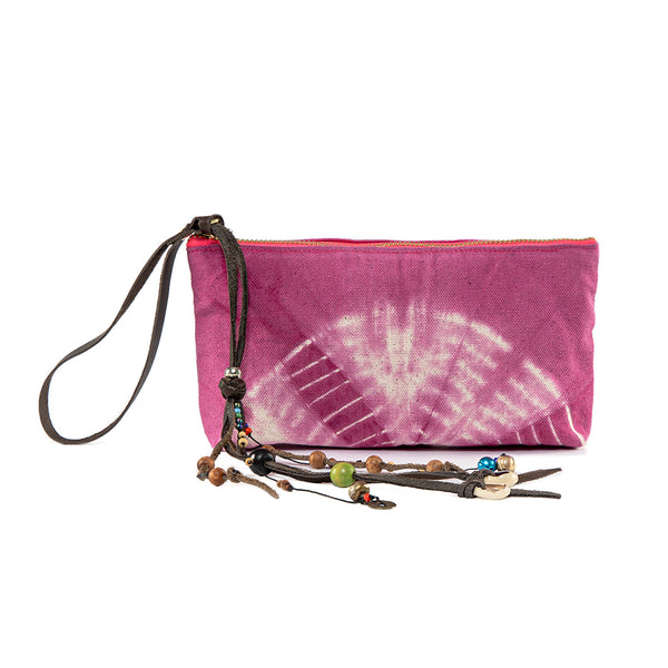 Tie Dye Beaded Charm Wristlet Pink - Pre order for May 15th - 30th delivery