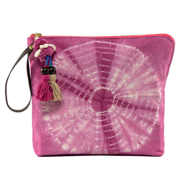 Tie Dye Zip Clutch Pink Pre Order for June 15th