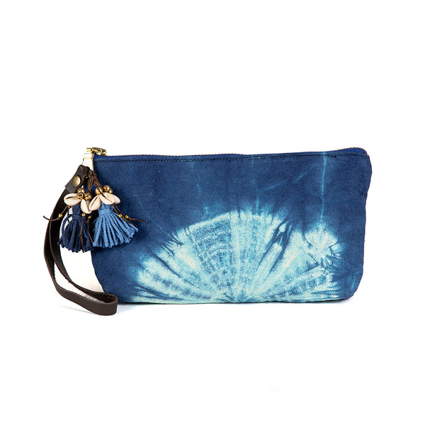 Tie Dye Puka Shell Wristlet Indigo - Pre Order for May 15th - 30th