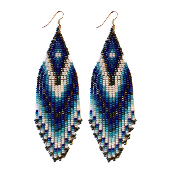 Tribal Earring Med/Lrg Indigo