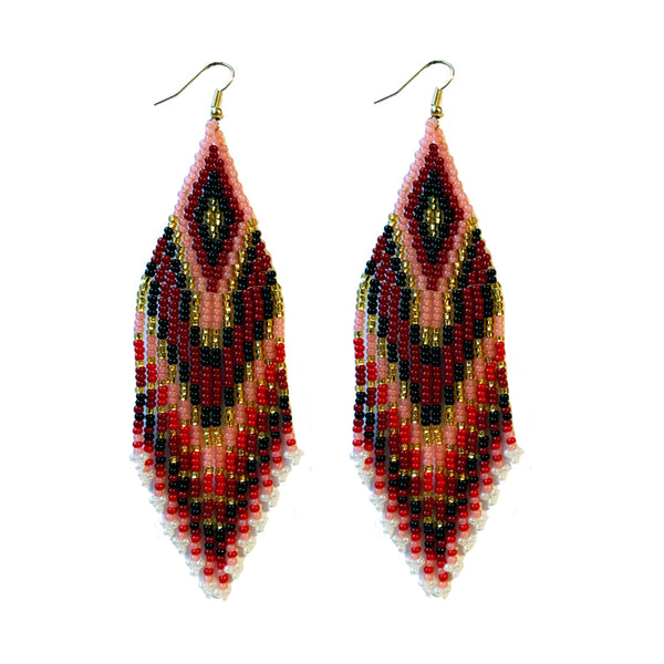 Tribal Earring Med/Lrg Blush
