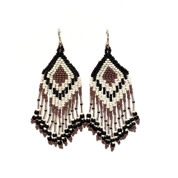 Tribal Earring Medium Mauve