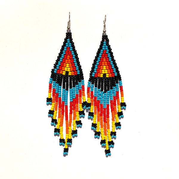 Tribal Earring Medium Triangle Multi
