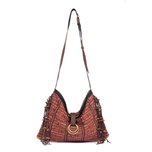Nina Tassel Messenger Brown - Pre Order for May delivery