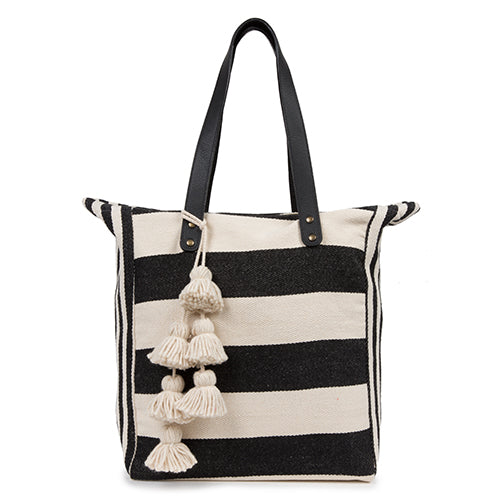 Valerie 2 Way Tote Black