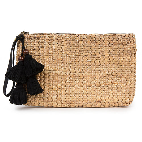 Basket Clutch Tassel Black