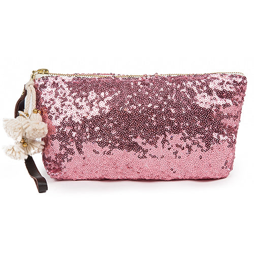 Sequin Wristlet Blush