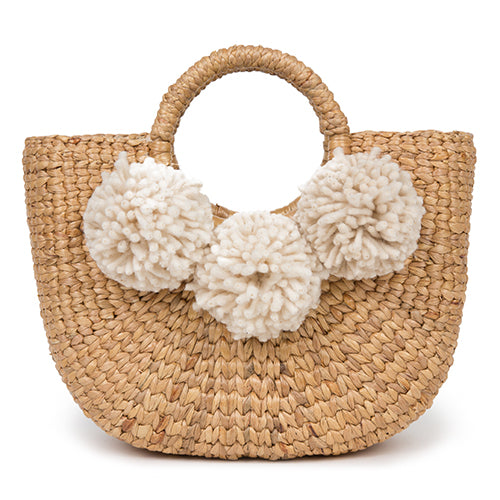 Sabai Basket Mini 3 Pom Sand/Organic Pre Order for July 30th