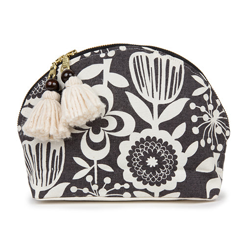 Atomic Floral Tassel Cosmetic Black
