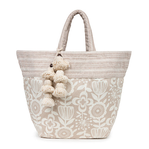 Atomic Floral S Tote Tassel Sand