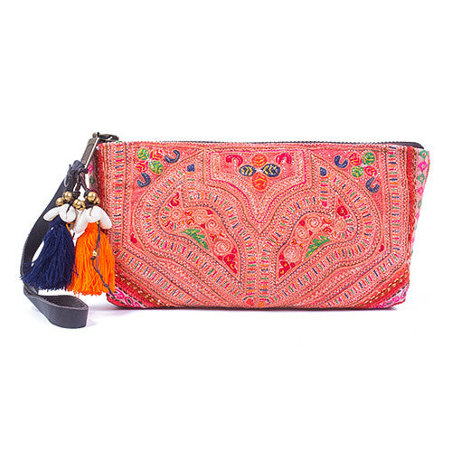 Panada Puka Shell Clutch Orange