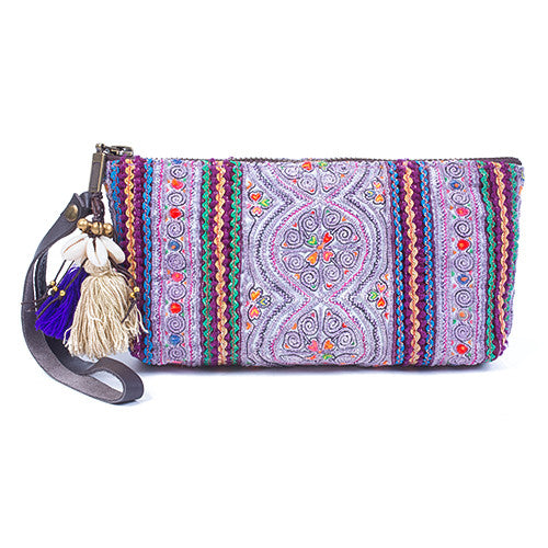 Panada Puka Shell Clutch Purple