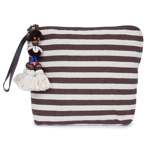 Valerie Zip Clutch Chocolate