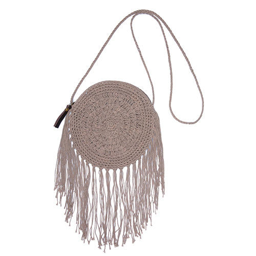 Macrame Circle Bag Tan