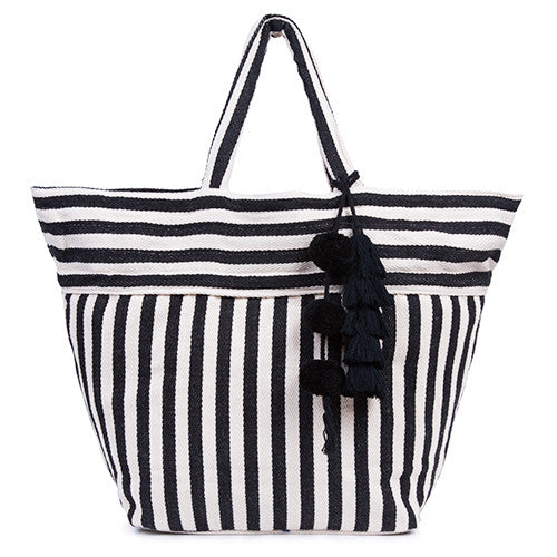 Valerie Tote Tassel All Black