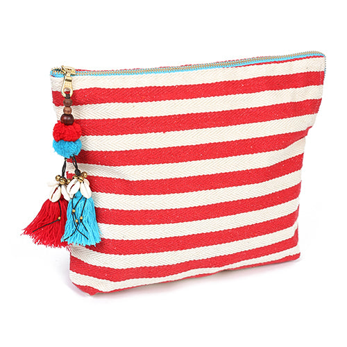 Valerie Clutch Neon Zip Red/Turquoise