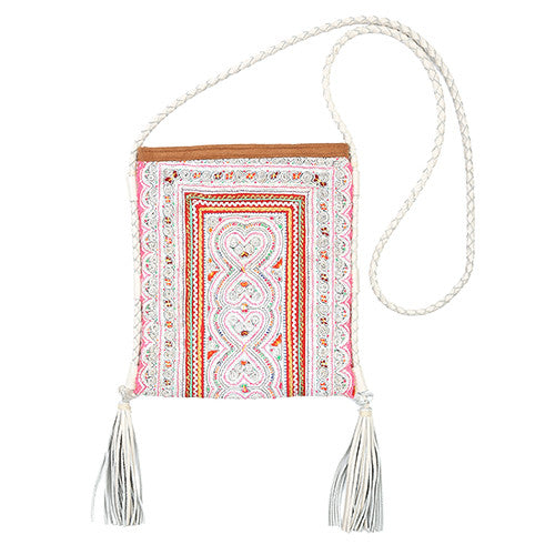Panada Double Tassel White / White leather