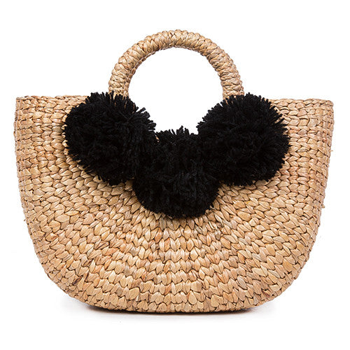 Basket Mini 3 Pom Black Pre Order for July 30th