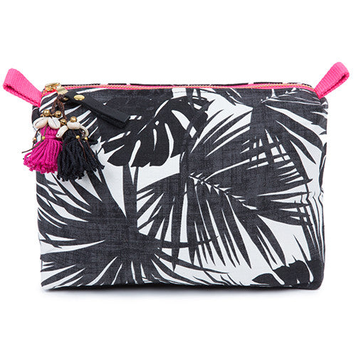 Aloha Neon Zip Cosmetic Black/Pink