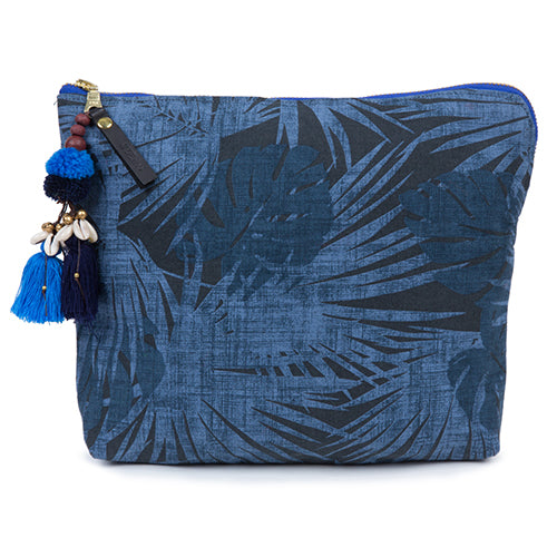 Aloha Neon Zip Clutch Indigo/Blue