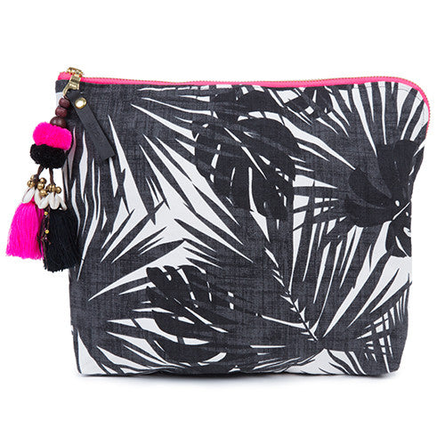 Aloha Neon Zip Clutch Black/Pink