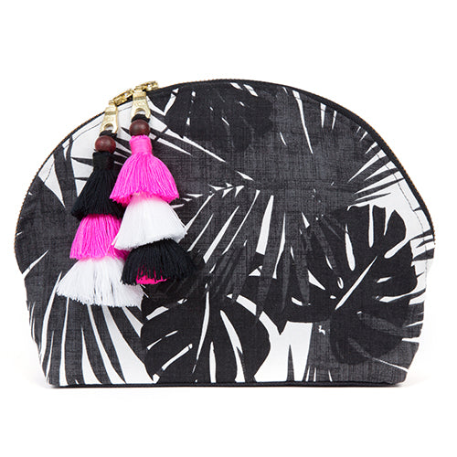 Aloha Double Tassel Cosmetic Black/Pink