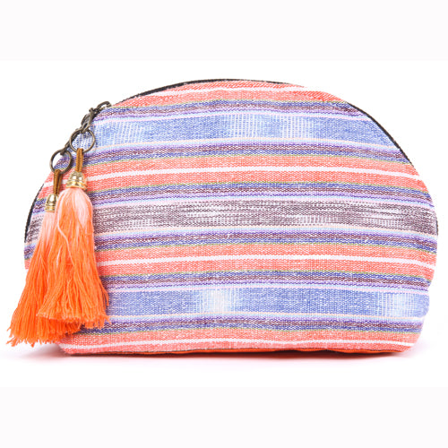 Samui Stripe Tassel Cosmetic Orange/Indigo